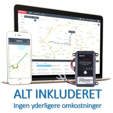 Professionel GPS Tracker - LIVE Tracking - Let installation
